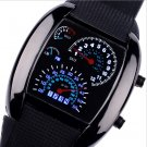 Men Aviation Luminous LED Silicone Calendar Wrist Watches