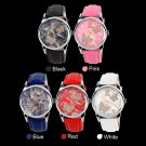 Mechanical Watch Leather Strap Ladies Watches Female Students Casual WatchesRandom Color
