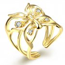 Butterfly Ring opening gold