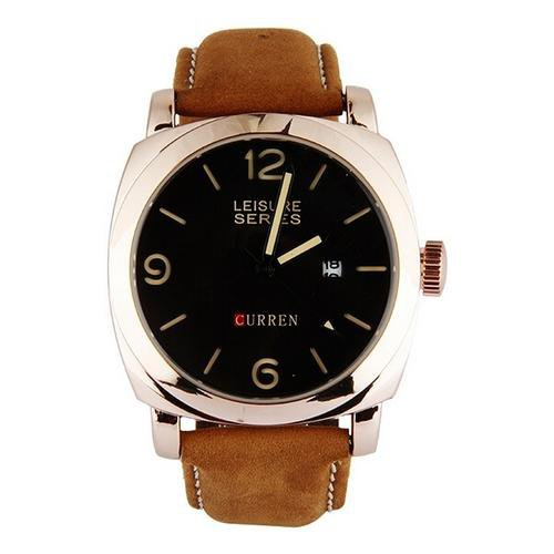 Fashion Sports Men's Leather Quartz Watch Wristwatches
