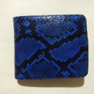 Genuine Python Snakeskin Leather Men's Bifold Wallet - Blue 2