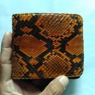 Genuine Python Snakeskin Leather Men's Bifold Wallet - Brown 2
