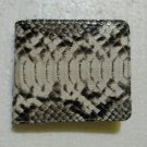 Genuine Python Snakeskin Leather Men's Bifold Wallet - Natural