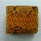 Genuine Python Snakeskin Leather Men's Bifold Wallet - Yellow 2