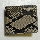 Genuine Python Snakeskin Leather Men's Bifold Wallet - Natural 2