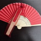 Free Shipping 20Pcs/Lot Plain Red Paper Hand Fans for Wedding 21cm with Organza Gift Bag