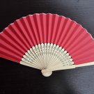 20Pcs/Lot 21cm Red Wedding Paper Fans Paper Fans for Party Decorations Personalized Paper Fans