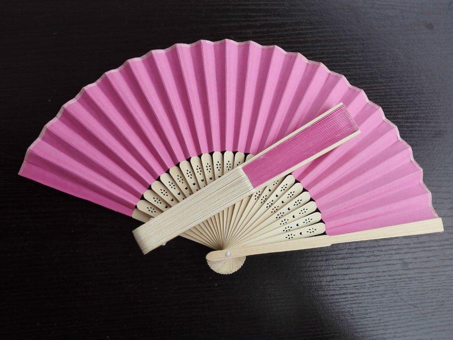 20Pcs/Lot 21cm Green Wedding Paper Fans Paper Fans for Party Decorations Personalized Paper Fans