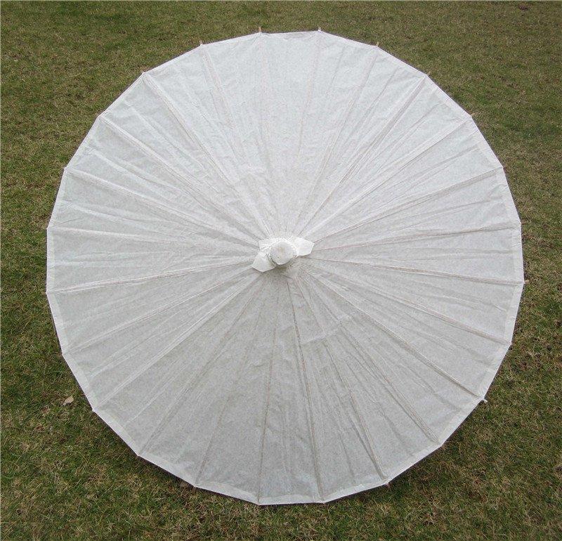"""33"""" Wedding Parasol Photography Prop White Parasol Ceremony Decor Painted Paper Parasol"""