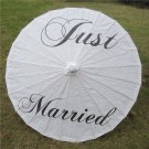 "33"" White Parasol Just Married Parasol Photography Prop Parasol Ceremony Decor"