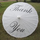 "33"" White Paper Parasol Thank You  Parasol Photography Prop Parasol Ceremony Decor"