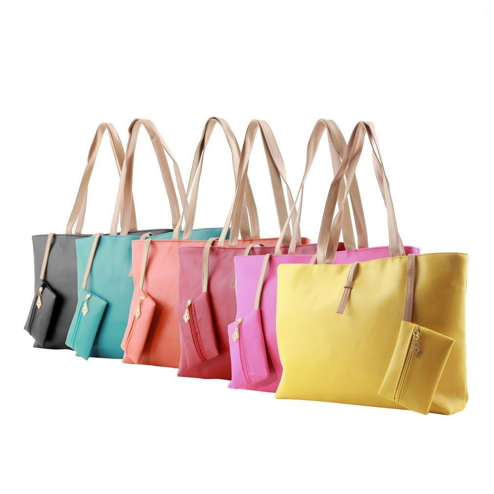 Women PU Leather Tote Shoulder Bags Hobo Handbags Satchel Messenger bag PurseCAF
