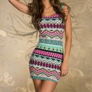 New Fashion Women Sexy Vintage Printed Clubwear Tank Dress Casual Dress dint FE