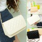 Women Checks Chain Crossbody Bag Purse Handbag Shoulder PU Leather Satchel FE