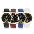 New Hot Fashionable Casual Watch Numbers Leather Strap Wristwatch FE