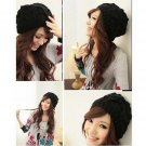 Fashion Women Warm Winter Beret Braided Baggy Beanie Crochet knitting Hat FE