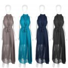 Women Long Chiffon Evening Formal Party Cocktail Ball Gown Bridesmaid Dress FE