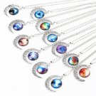 Hot New Rare Fashion Starry Sky Moon Outer space Universe Long Necklaces FE