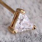 Women's Charm Gold Plated GeometricTriangle Crystal Earrings Ear Studs Gift FE