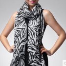 Fashion Trendy Long Zebra Printed Chiffon Scarf Women Girls shawl Soft Smooth FE
