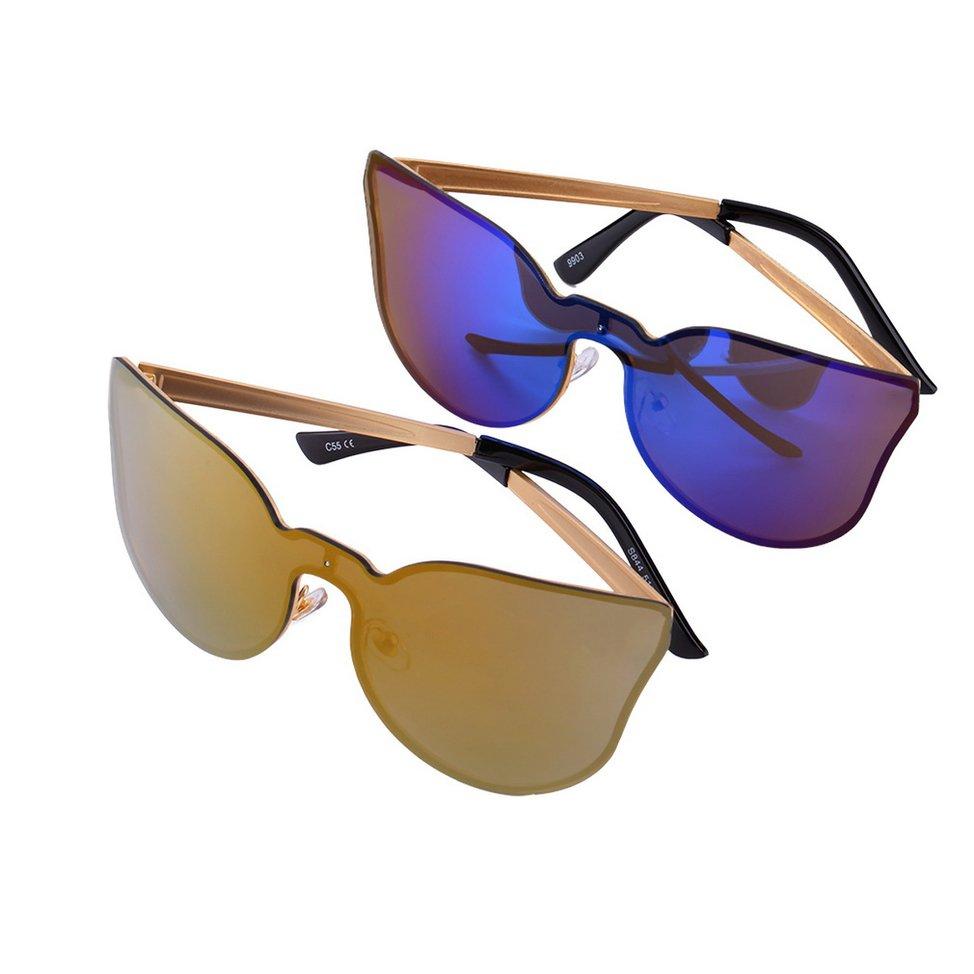 New Fashion Vintage Women Lady Decorative Metal Frame Cat Eye Sunglasses FE