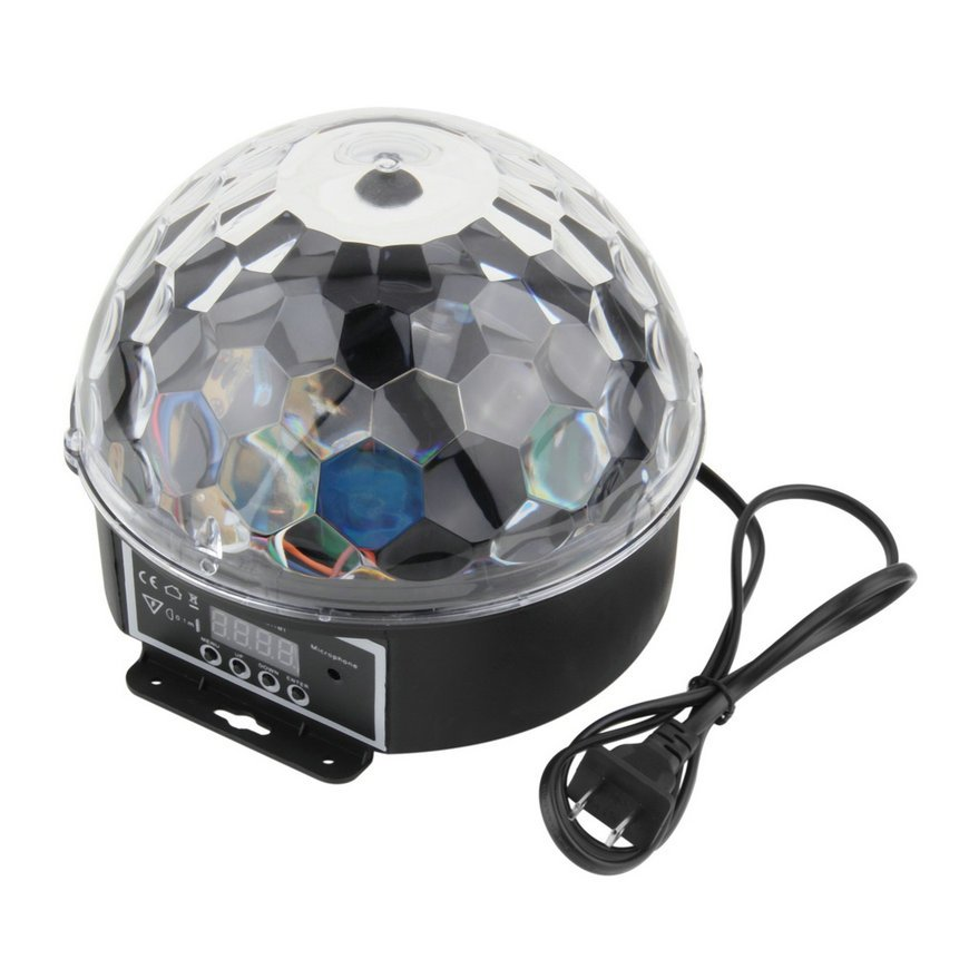 6 Colors LED Crystal Magic Ball Effect Light Disco DJ Stage Party DF