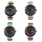 Men's Dual Time Zones Analog Digital Waterproof Luminous Wrist Watch FE