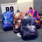 Unisex Girls Galaxy Space Backpack Travel Canvas Bag Rucksack School Bookbag FE