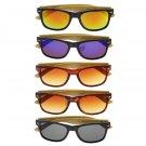 Bamboo Sunglasses Wooden Wood Mens Womens Retro Vintage Summer Glasses FE