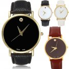 Vintage Golden Women Ladies Luxury Simple Fine Dial Analog Quartz Wrist Watch FE