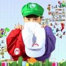 New Chic Luigi Super Mario Bros Cosplay Adult Size Hat Cap Baseball Costume EF