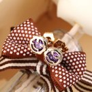 New Fashion Women Lady Flower Rhinestone Ear Stud Elegant Earrings 1 Pair FE