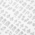 108Pcs 3D Silver Flower Nail Art Stickers Decals Stamping DIY Decoration Tool