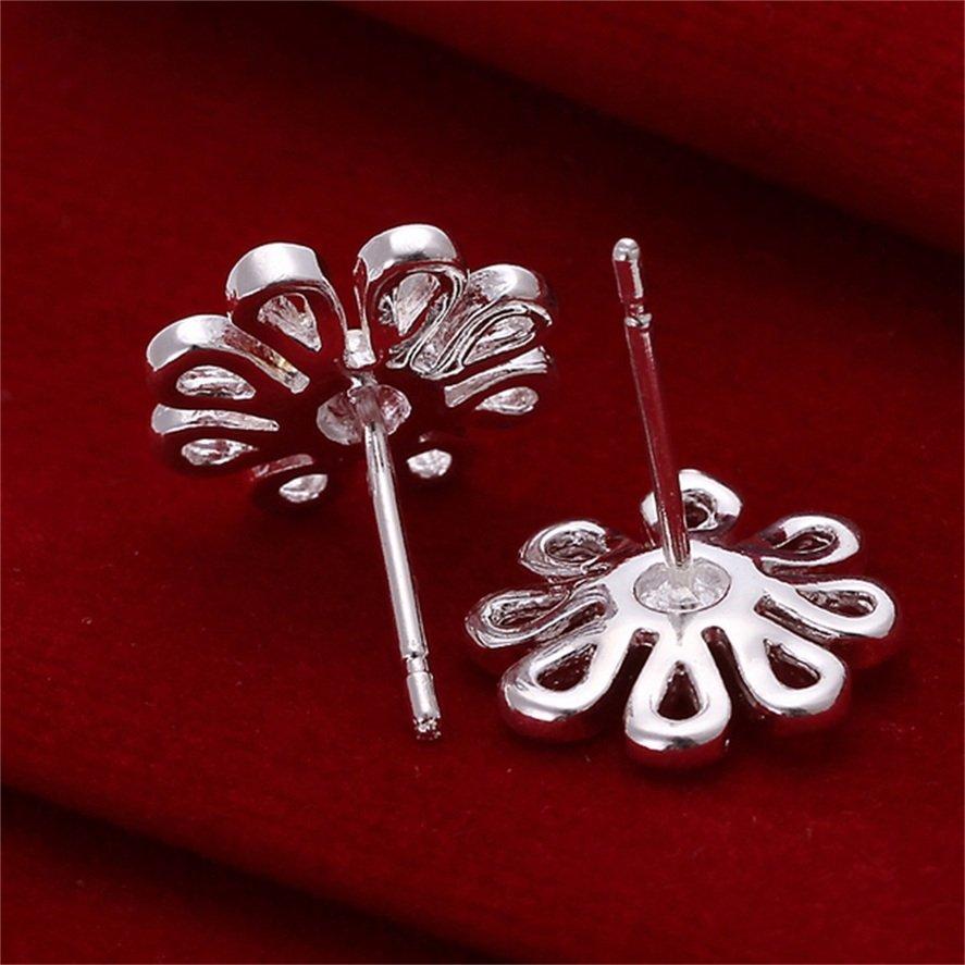 1 Pair Fashion Women's Silver Plating Hollow Lovely Daisy Ear Studs Earrings FE