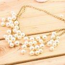 Hot Fashion Women Charm Faux Pearl Tassel Pendant Chain Necklace Jewelry FE