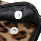 8 PCS Pro Makeup Brush Set Cosmetic Tool Leopard Bag Beauty Brushes FE