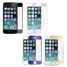 Front Mirror Effect Colour Tempered Glass Screen Protector For iPhone 5 5S FE