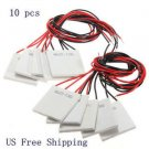 10 PCS 12V 60W TEC1-12706 Heatsink Thermoelectric Cooler Peltier Cooling Plate#A