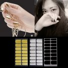 3Sheet Nail Stickers Foil Decor 3 Colors Metal Manicure Black Gold Silver FE