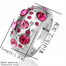 Women's Charm Crystal Antiallergic Alloy Platinum Plated Finger Ring Jewelry FE