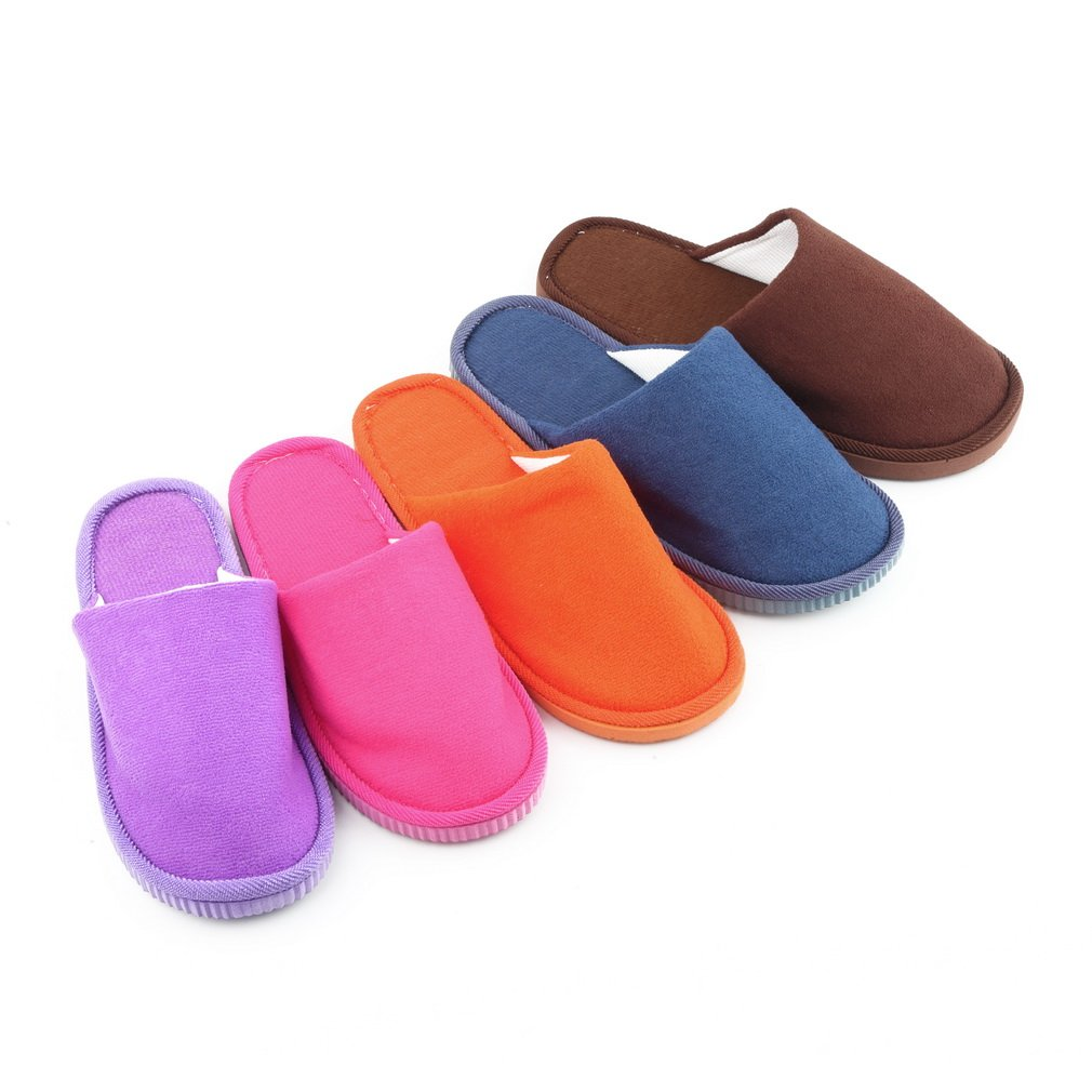 Men Women Soft Warm Indoor Slippers Cotton Sandal House Home Anti-slip Shoes FE