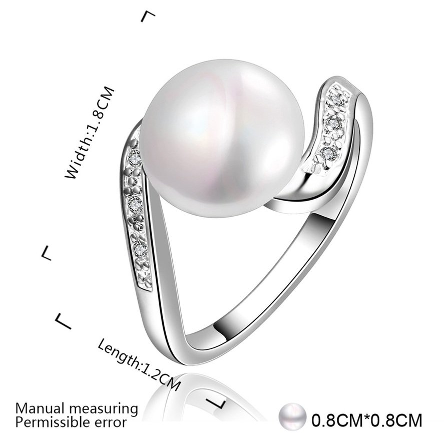 New Fashion Beautiful Jewelry Party Ring Diamonds Multicolor Pearls Ring FE