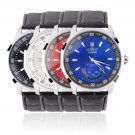 Men Classic Automatic Mechanical Wrist Watch Synthetic Leather Strap Watches FE