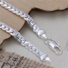 5mm Men's Silver Plating Charm Flat Curb Link Bracelet Bangle Jewelry Hot FE