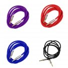1m Braided Woven 3.5mm Male to Male AUX Audio Headphone Cord Cable New FE