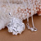 Simple Fashion Charm Silver Dedicate Rose Pendant Gift DIY Accessory FE