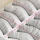 1set/10 Pairs Handmade Fake False Eyelash Lashes Natural Transparent Black FE