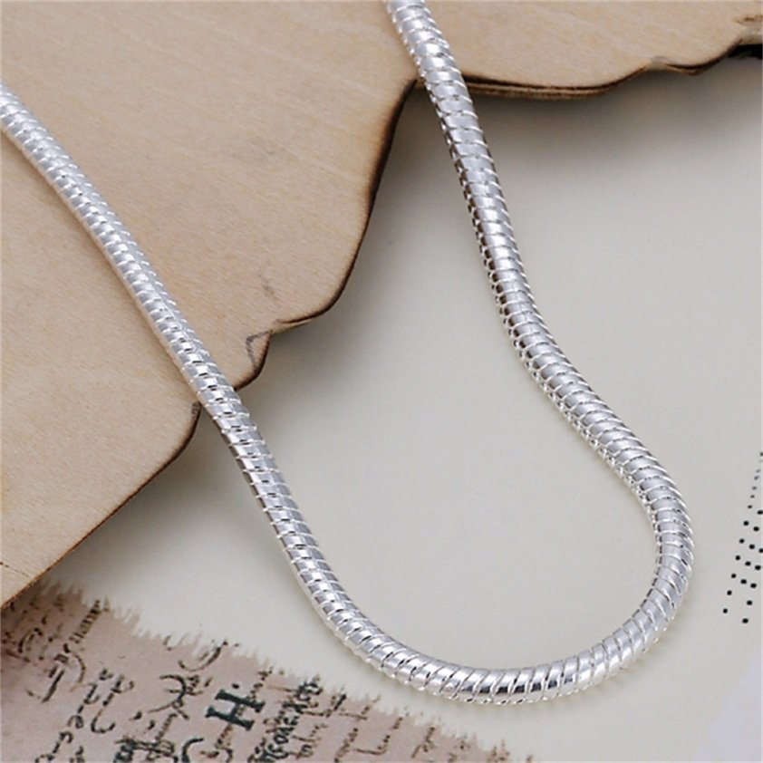 Charming Fashion 3mm Silver Plating Snake Chain Bracelets Jewelry Hot FE