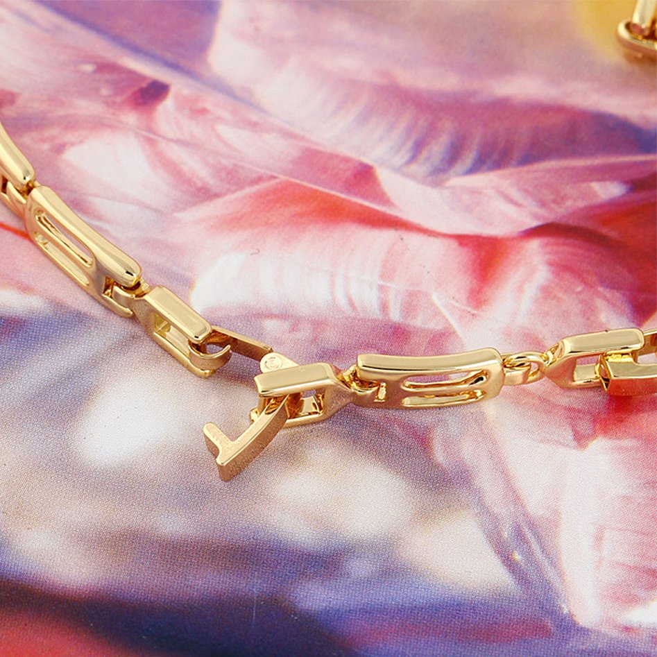 Korean Style Women's Zircon Gold Plated Rhinestone Exquisite Bracelet FE