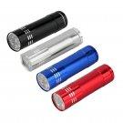 Mini Aluminum UV ULTRA VIOLET 9 LED FLASHLIGHT BLACKLIGHT Torch Light Lamp EF